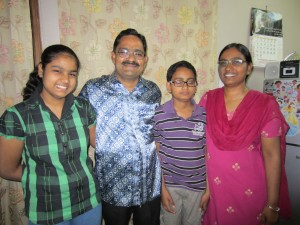 Rev Hiralal and Luxmi Solanki with Abhishek and Avatar at their home in Delhi