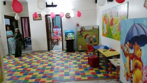The spacious facilities for the little flock preschool in Delhi that teach LEM phonics as their English literacy programme. This franchise is a feeder school for Faith Academy.