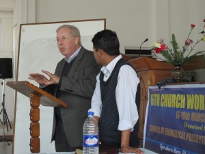 Teaching on Reformed Preaching and Preachers which was more of a workshop than a seminar with the evangelical Presbyterian Church of Sikkim.. Pastor Prem Sharma a PTS graduate was translating on this occasion