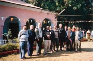 Faculty gathered at morning tea time at the Presbyterian Theological Seminary, Dehra Dun in the year 2006